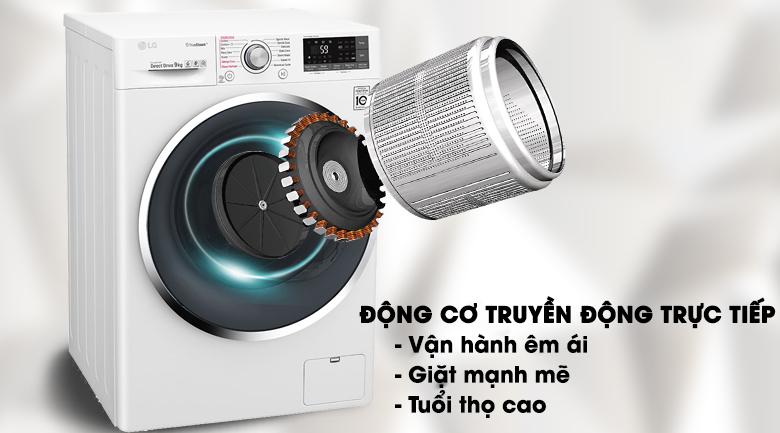 Động cơ truyền động trực tiếp - Máy giặt LG Inverter 9 kg FC1409S3W