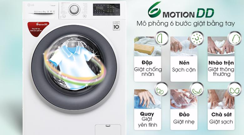 6 motion DD - Máy giặt LG Inverter 9 kg FC1409S3W
