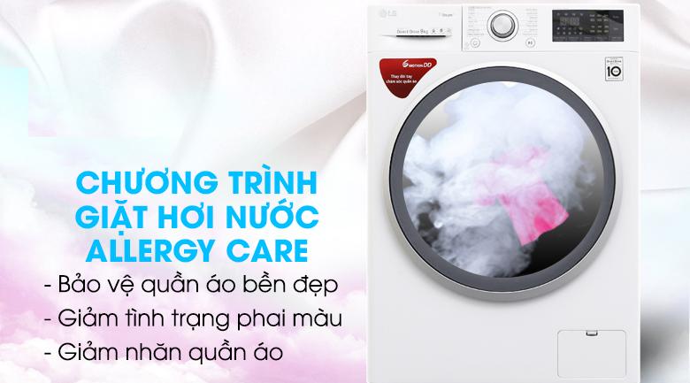 Giặt hơi nước Spa steam - Máy giặt LG Inverter 9 kg FC1409S3W