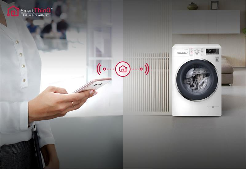 Máy giặt thông minh - Máy giặt LG Inverter 9 kg FC1409S3W