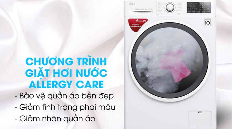 Giặt hơi nước - Máy giặt LG Inverter 7.5 kg FC1475N4W