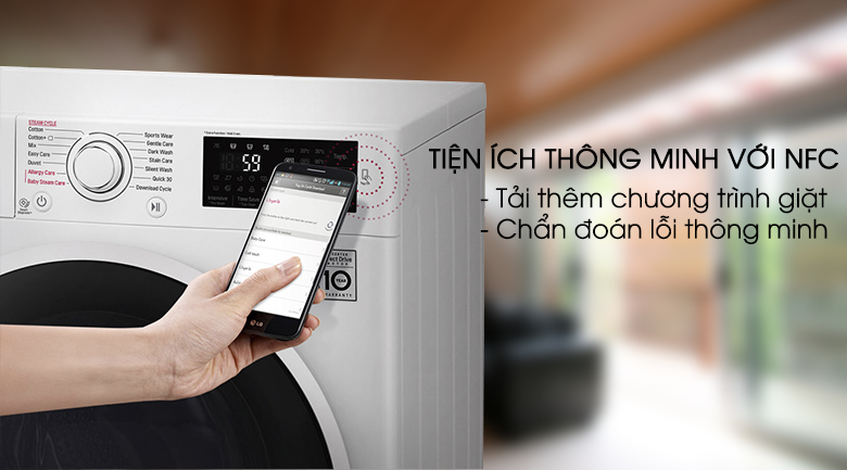 NFC - Máy giặt LG Inverter 7.5 kg FC1475N4W