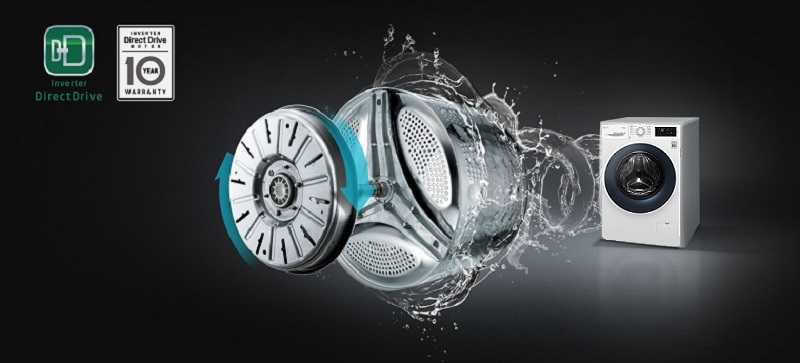 Máy giặt Inverter truyền động trực tiếp vô cùng êm ái và bền bỉ