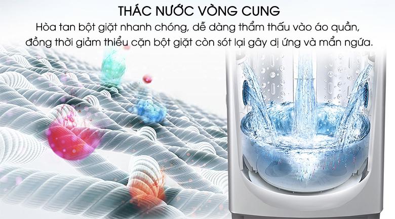 Thác nước vòng cung - Máy giặt LG Inverter 8.5 kg T2385VS2M