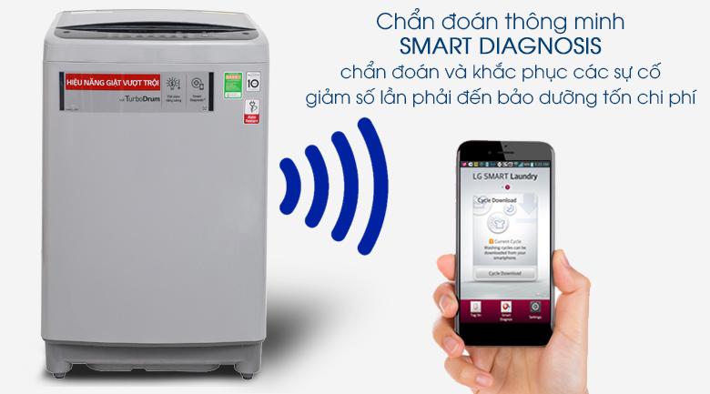 Chẩn đoán thông minh - Máy giặt LG Inverter 8.5 kg T2385VS2M