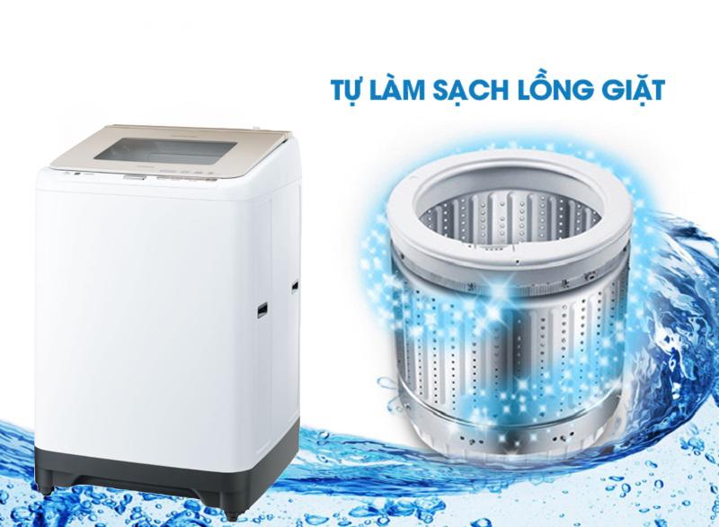 An toàn hơn với chức năng tự động vệ sinh lồng giặt
