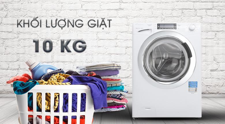 Khối lượng giặt 10 kg - Máy giặt Candy Inverter 10 kg GVF1510LWHC3/1-S