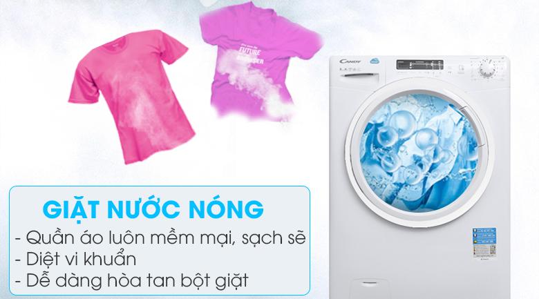 Tính năng giặt nước nóng - Máy giặt Candy 8 kg HCS 1282D3Q/1-S