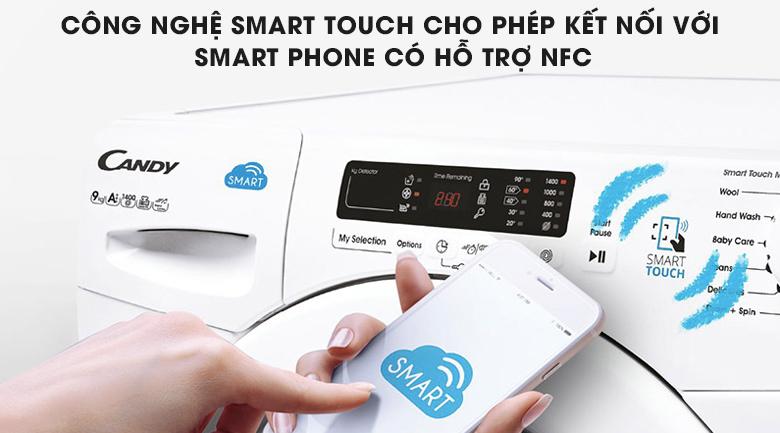 Công nghệ Smart Touch - Máy giặt Candy 8 kg HCS 1282D3Q/1-S