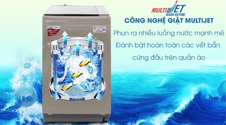 Multi Jet - Máy giặt Aqua 8 kg AQW-U800BT N