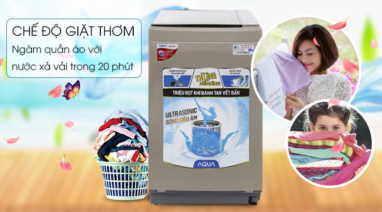Chế độ giặt thơm - Máy giặt Aqua 8 kg AQW-U800BT N