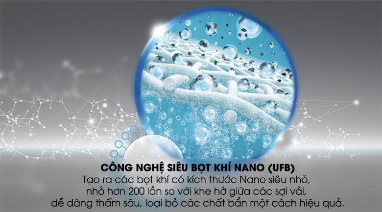 Công nghệ UFB siêu bọt khí NANO - Máy giặt Toshiba Inverter 10 kg AW-DUH1100GV