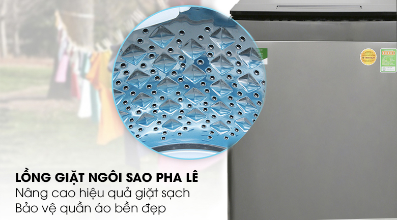 Lồng giặt ngôi sao pha lê - Máy giặt Toshiba Inverter 10 kg AW-DUH1100GV