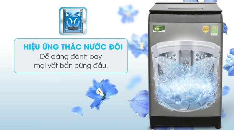 Hiệu ứng thác nước đôi - Máy giặt Toshiba Inverter 11 kg AW-DUH1200GV
