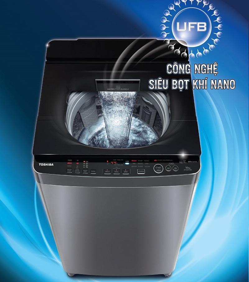 Công nghệ UFB siêu bọt khí NANO tiết kiệm xà phòng, đánh bay mọi vết bẩn cứng đầu
