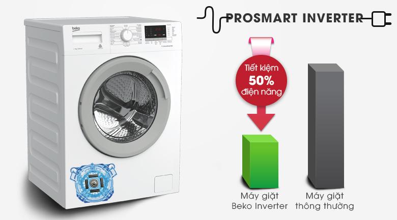 Prosmart Inverter - Máy giặt Beko Inverter 7 kg WTE 7512 XS0