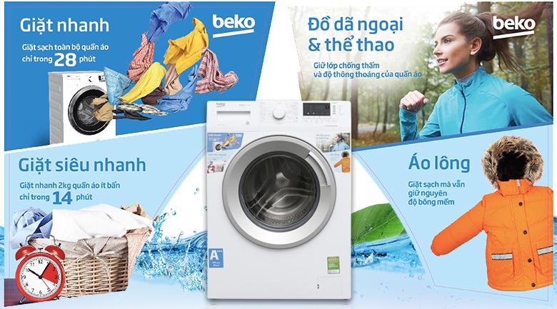 Các chức năng giặt khác - Máy giặt Beko Inverter 7 kg WTE 7512 XS0