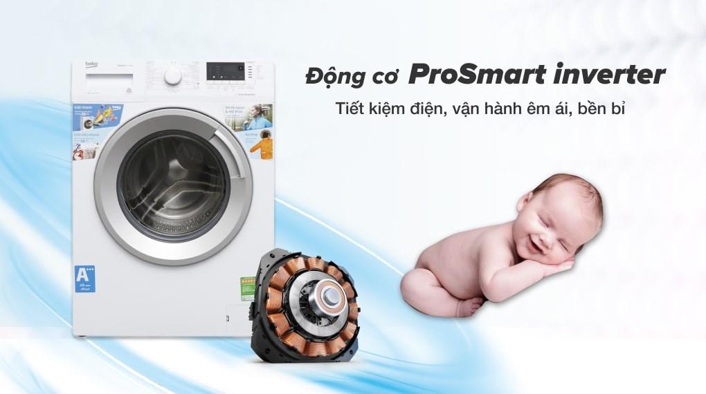 Giặt nước nóng - Máy giặt Beko Inverter 8 kg WTV 8512 XS0