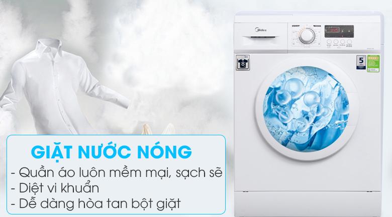 Giặt nước nóng - Máy giặt Midea 8 kg MFD80 -1208