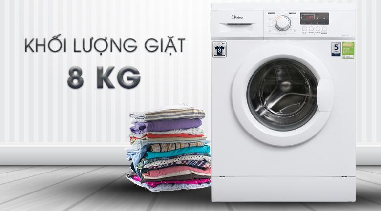 Khối lượng giặt - Máy giặt Midea 8 kg MFD80 -1208