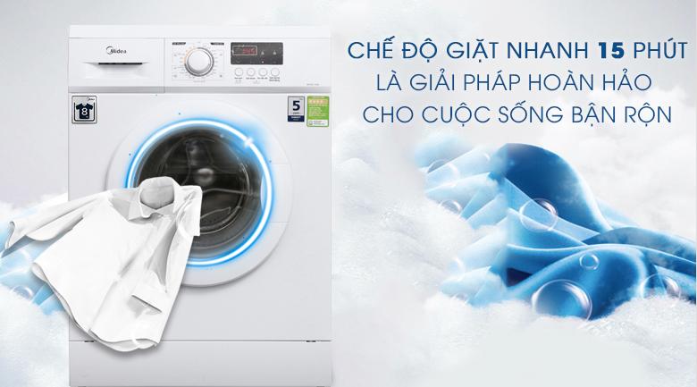 Chế độ giặt nhanh 15 phút - Máy giặt Midea 8 kg MFD80 -1208
