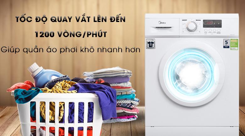 Vắt cực khô - Máy giặt Midea 8 kg MFD80 -1208