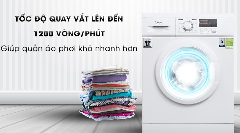 Tốc độ quay vắt mạnh mẽ - Máy giặt Midea 9 kg MFD90 -1208