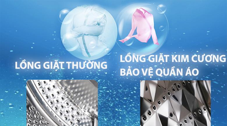 Lồng giặt kim cương bảo vệ quần áo luôn bền đẹp với thời gian