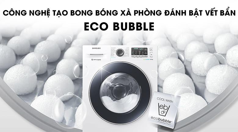 Công nghệ Eco Bubble - Máy giặt Samsung Inverter 8 kg WW80J54E0BW/SV