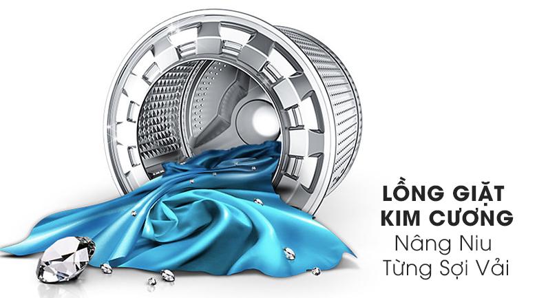 Lồng giặt kim cương - Máy giặt Samsung Inverter 8 kg WW80J54E0BW/SV