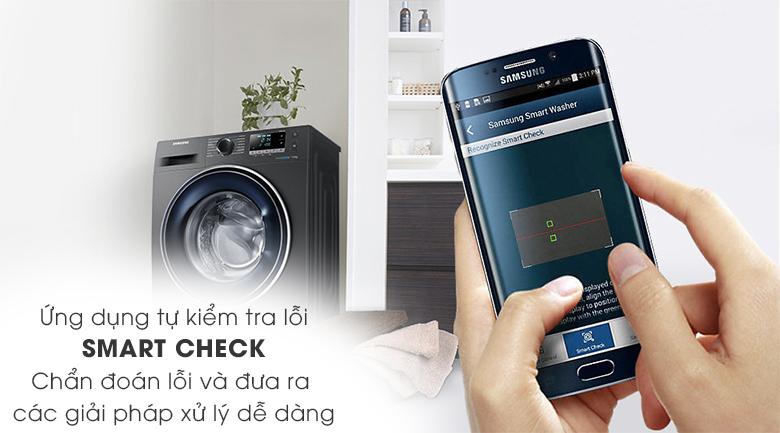 SmartCheck - Máy giặt Samsung Inverter 8 kg WW80J54E0BX/SV