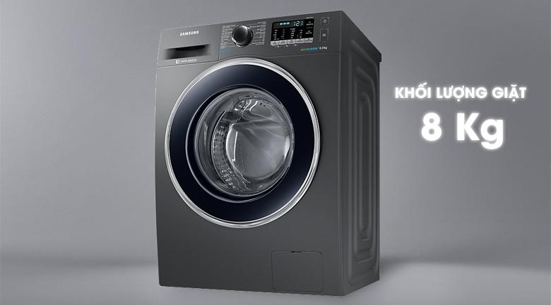 Khối lượng giặt - Máy giặt Samsung Inverter 8 kg WW80J54E0BX/SV