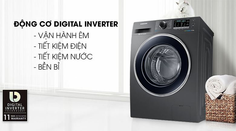Công nghệ Digital Inverter - Máy giặt Samsung Inverter 8 kg WW80J54E0BX/SV