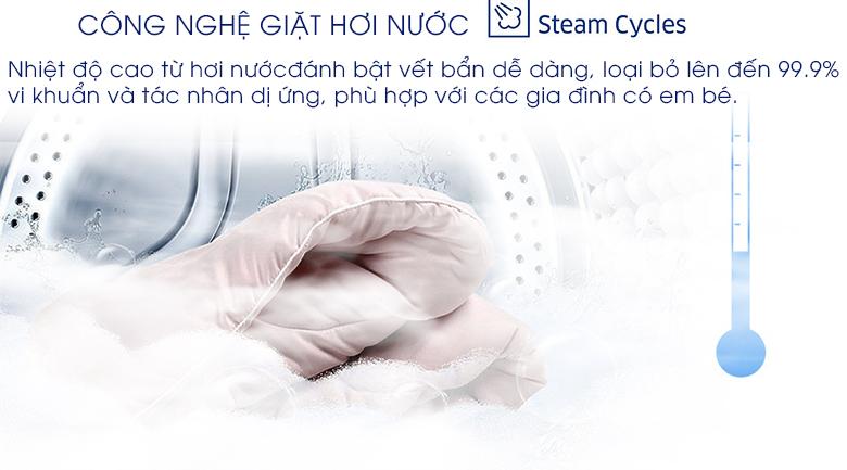 Giặt hơi nước - Máy giặt Samsung Inverter 8 kg WW80J54E0BX/SV