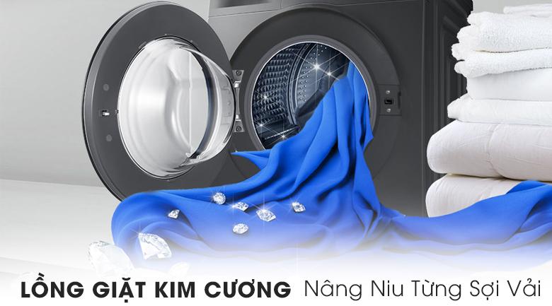 Lồng giặt kim cương - Máy giặt Samsung Inverter 8 kg WW80J54E0BX/SV