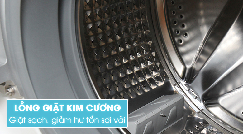 Lồng giặt kim cương giặt hiệu quả, bảo vệ quần áo