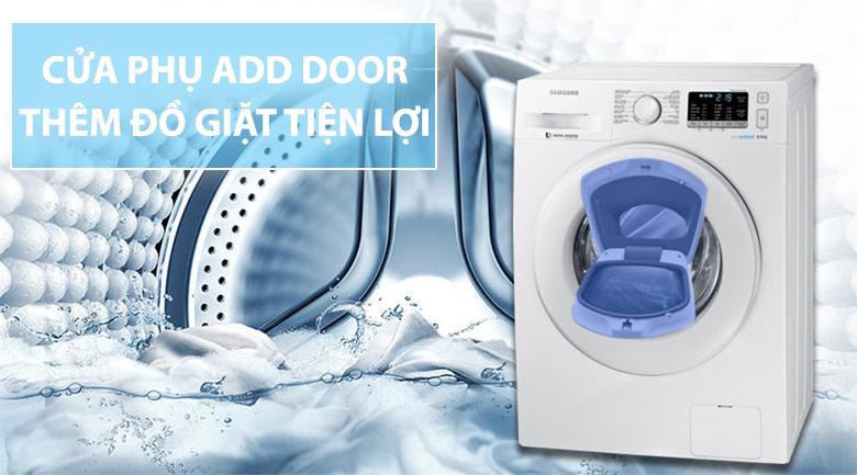 Tiện lợi hơn với tính năng thêm đồ khi giặt qua cửa phụ Add door