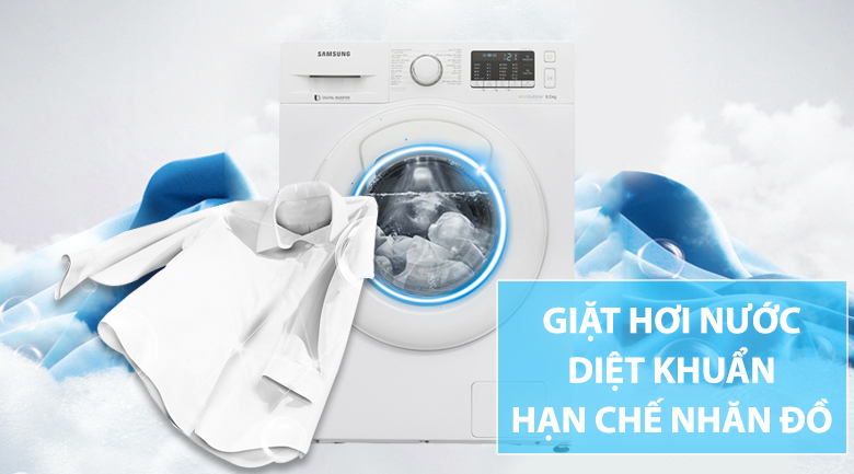 Giặt hơi nước khử mùi, diệt khuẩn và chống nhăn quần áo hiệu quả