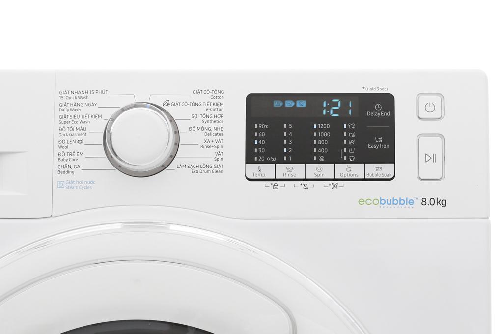 Máy giặt Samsung AddWash Inverter 8 kg WW80K52E0WW/SV hình 5