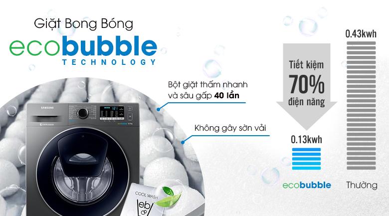 Công nghệ giặt bong bóng Eco Bubble - Máy giặt Samsung AddWash Inverter 8.5 kg WW85K54E0UX/SV