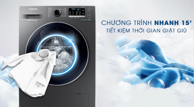 Chế độ giặt nhanh 15 phút - Máy giặt Samsung AddWash Inverter 8.5 kg WW85K54E0UX/SV