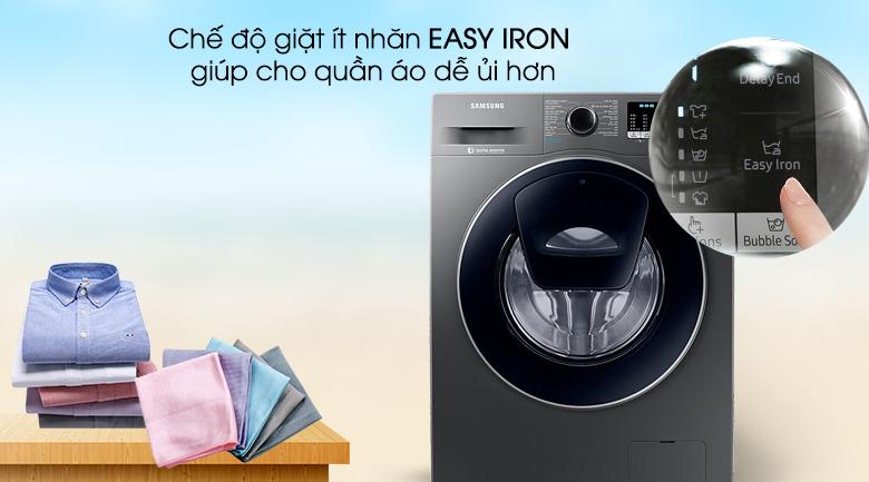 Chương trình giặt ít nhăn Easy Iron - Máy giặt Samsung AddWash Inverter 8.5 kg WW85K54E0UX/SV