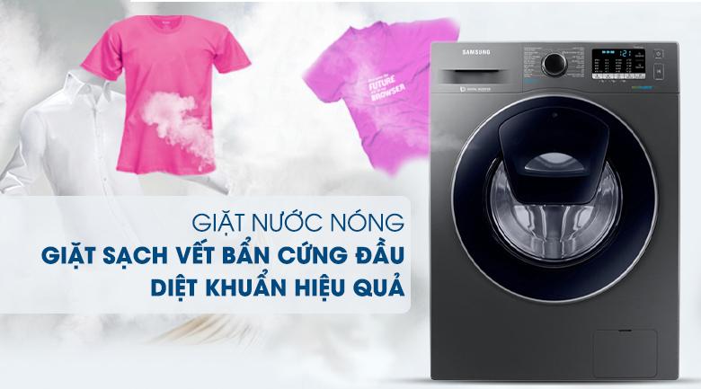 Giặt nước nóng - Máy giặt Samsung Addwash Inverter 9 kg WW90K54E0UX/SV