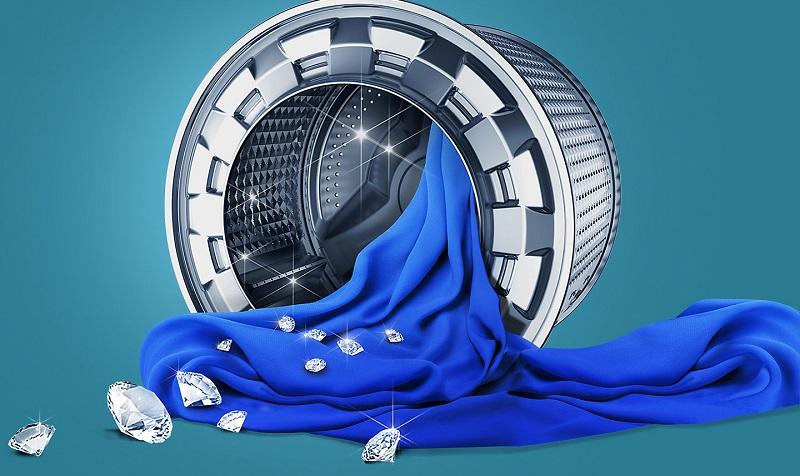 Lồng giặt kim cương giặt sạch hiệu quả, loại bỏ xơ vải, bảo vệ quần áo bền đẹp như mới