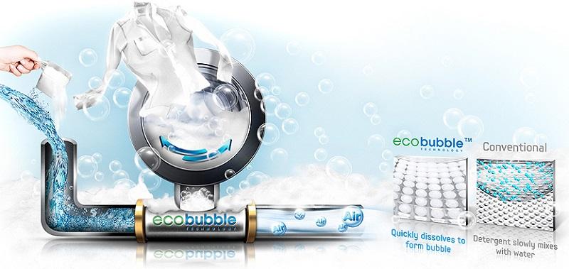 Đánh bay mọi vết bẩn cứng đầu với công nghệ giặt bong bóng Eco Bubble