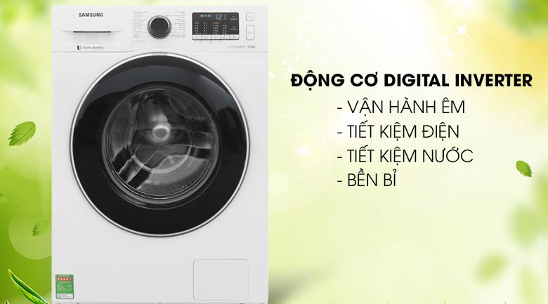 Tiết kiệm điện năng - Máy giặt Samsung Inverter 9 kg WW90J54E0BW/SV