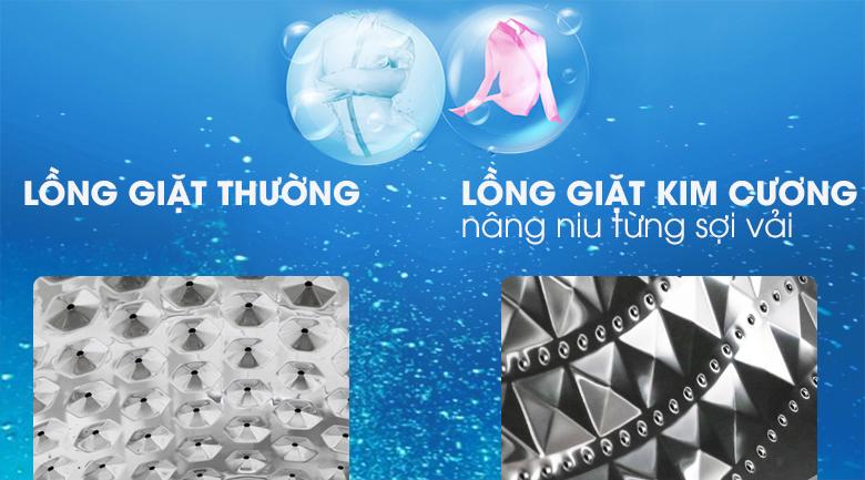 Lồng giặt kim cương - Máy giặt Samsung Inverter 9 kg WW90J54E0BW/SV