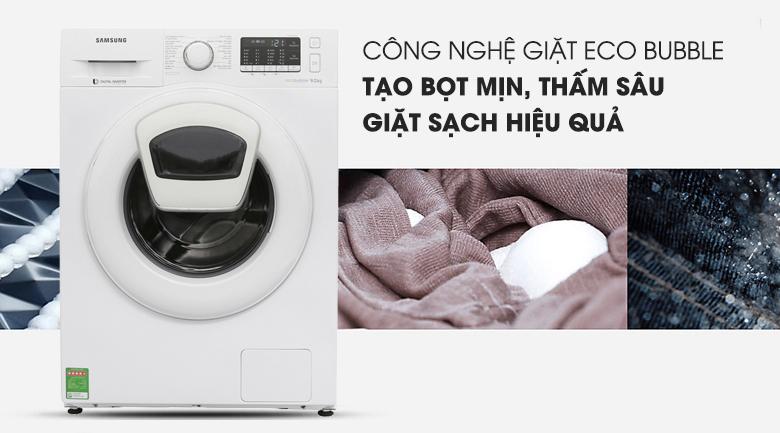 Eco Bubble - Máy giặt Samsung Inverter 9 kg WW90K52E0WW/SV