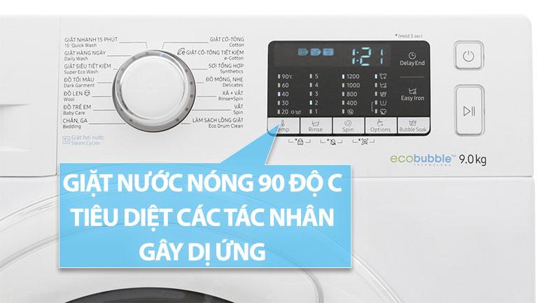 Giặt nước nóng 90 độ C diệt 99% vi khuẩn gây dị ứng
