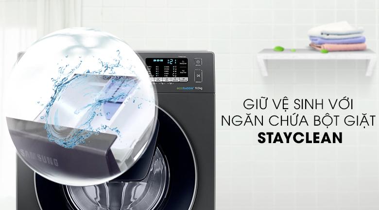 Ngăn chứa bột giặt Stayclean - Máy giặt Samsung Addwash Inverter 9 kg WW90K54E0UX/SV